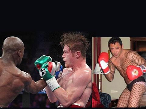Floyd Mayweather atacó en las redes a Canelo y a De la Hoya!