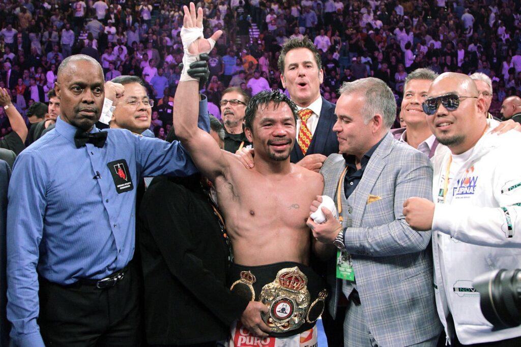 Manny Pacquiao venció a Keith Thurman e hizo historia en Las Vegas
