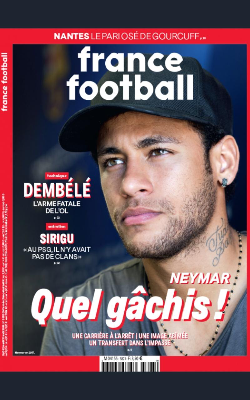 Así destruyó la revista France Football a Neymar