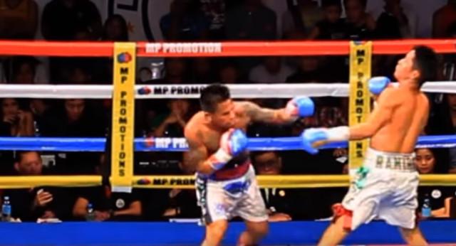 Boxeo:Le voló el protector bucal de un derechazo y lo dejó dos minutos tirado en la lona