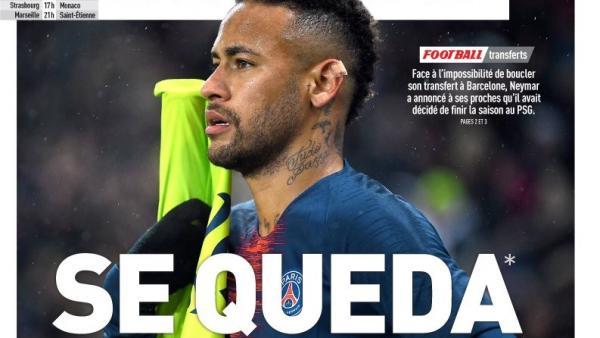 Neymar desiste, comunica al PSG que se queda