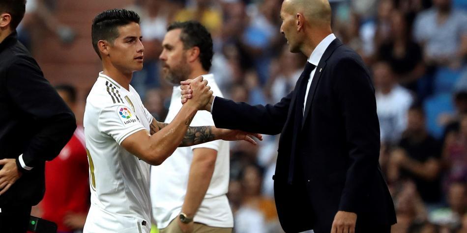 Nueva chance: James Rodríguez fue inscrito por Zidane y Real Madrid en Champions League 2019