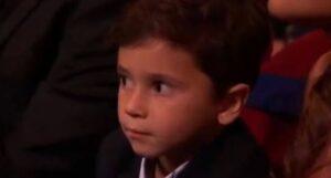 Así reaccionó Mateo el hijo de Messi
