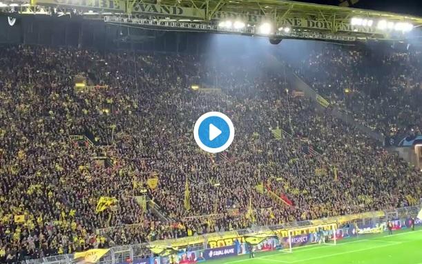 El espectáculo coordinado de la afición del Borussia Dortmund