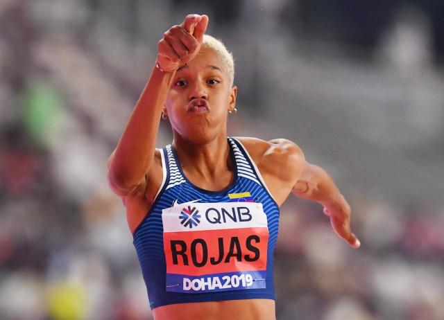 Yulimar Rojas supera su anterior récord en el mundial del Salto Triple en Doha