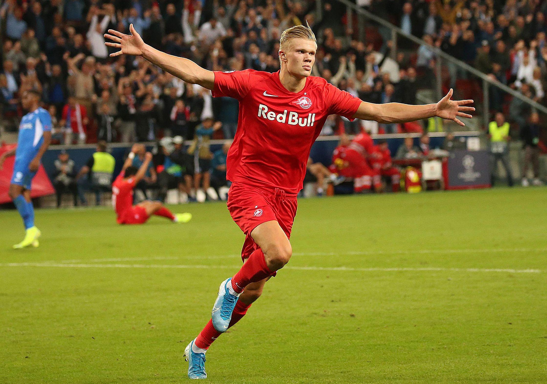 Erling Braut Haland está sorprendiendo en la UEFA Champions League.