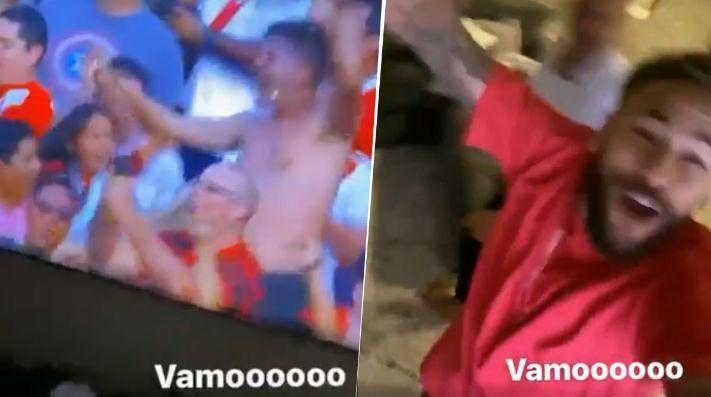Video: Neymar celebró como loco el título de Flamengo de la Libertadores