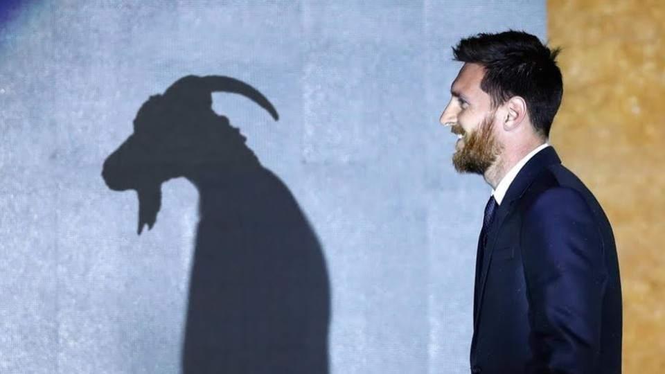 Lionel Messi y la cabra