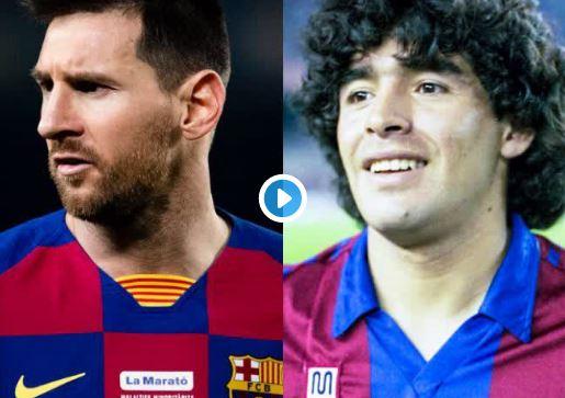 El Barcelona juntó en un video toda la magia de Diego Maradona y Lionel Messi en el club