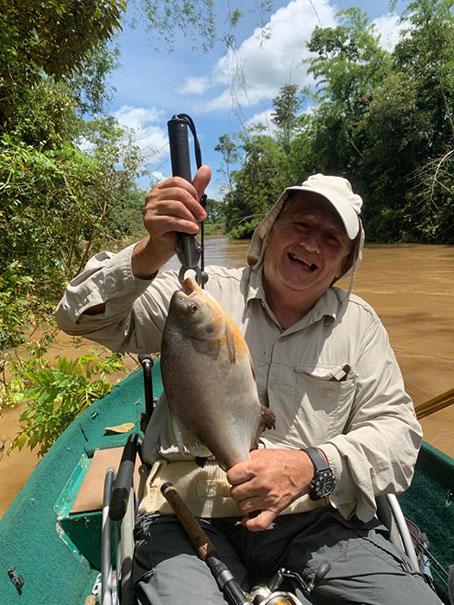 Foto/La Nación- Mario Marciales, uno de los promotores del Concurso de Pesca de la FISS.