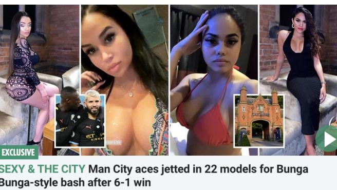 Escándalo en Inglaterra por la fiesta de los jugadores del Manchester City con 22 modelos