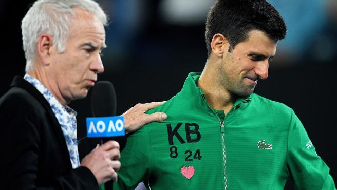 Djokovic se derrumba al recordar Kobe y rompe a llorar
