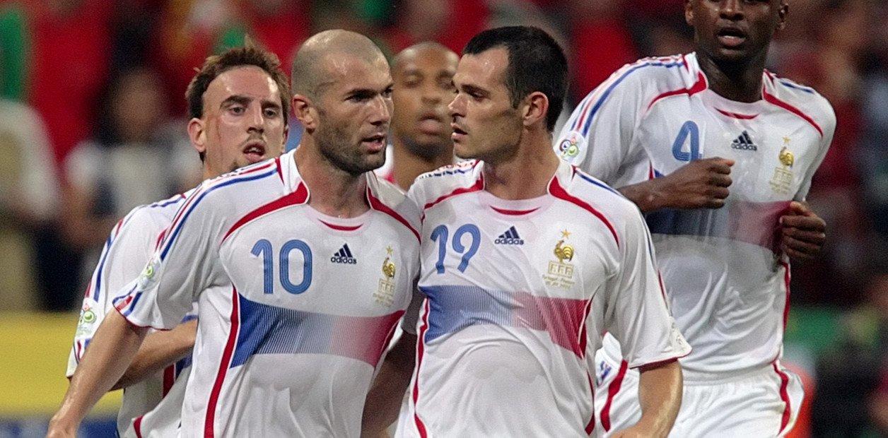 Zinedine Zidane y Willy Sagnol, en el Mundial 2006.