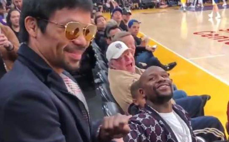 El saludo cariñoso y sin rencor de Manny Pacquiao y Floyd Mayweather