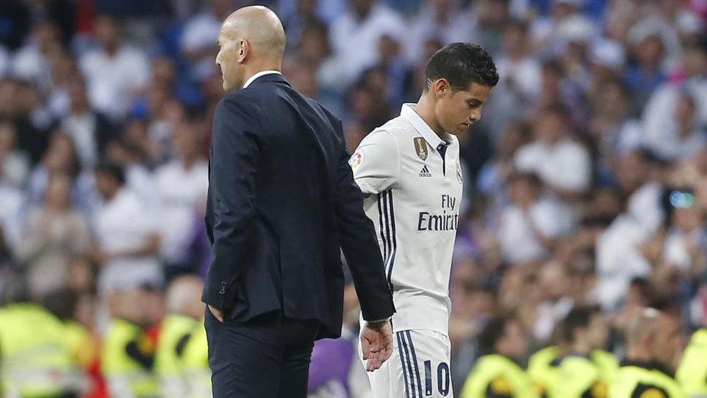 Zinedine Zidane da por rota su relación con James: