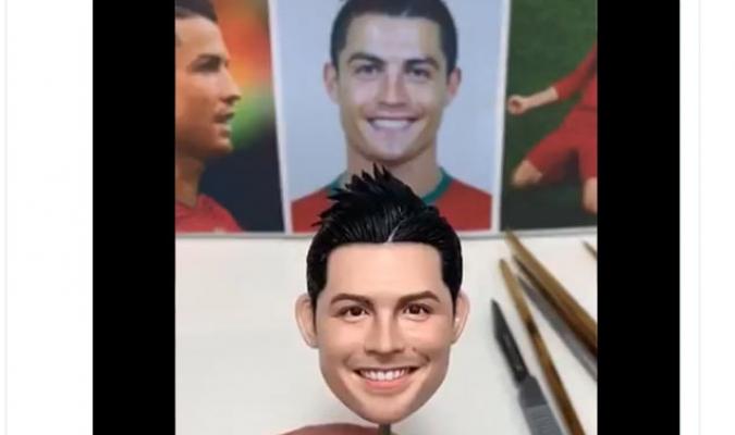 VIDEO: Crearon a un Cristiano Ronaldo de plastilina