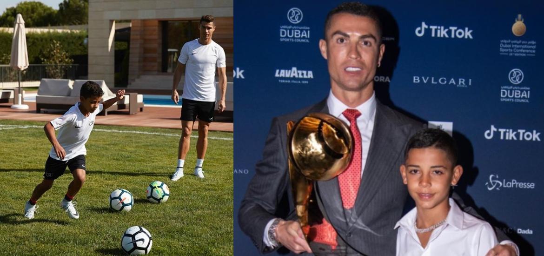 Que dijo CR7de su hijo Cristiano Júnior sobre el potencial para convertirse en un futbolista top