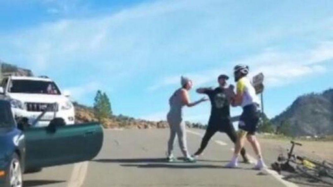 """""""Lo va a matar"""": así fue la brutal agresión a un ciclista por una discusión de tráfico"""