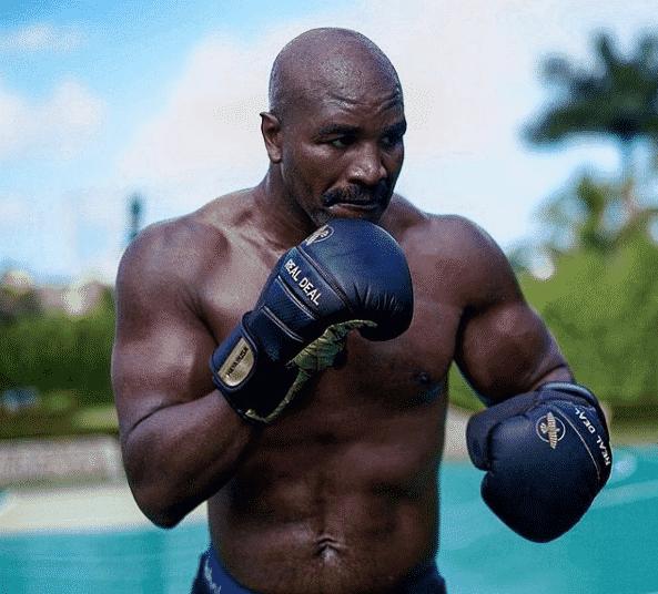 Así luce Evander Holyfield rumbo a una tercera pelea con Mike Tyson