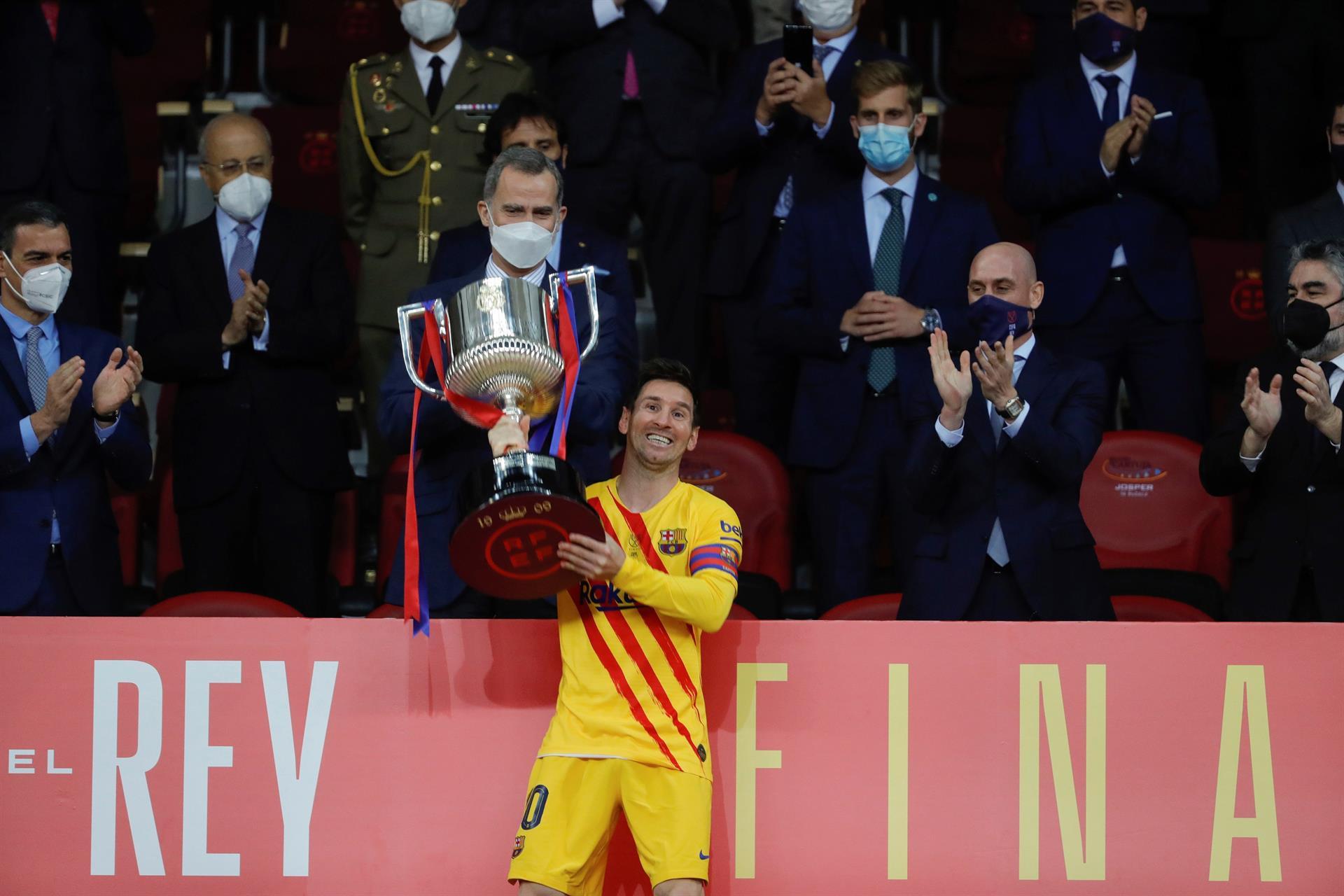 Messi rompió el silencio tras ganar otro título con el Barça
